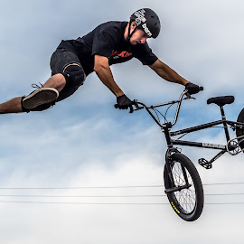Doing a Trick by Mike Watts - Sports & Fitness Cycling ( bike, jumping, cycling, bmx )