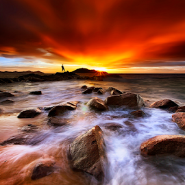Sunset before storm by Dany Fachry - Landscapes Beaches