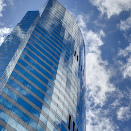 MMPI_20150418_MMPI0023_0048 by Mick McKean - Buildings & Architecture Office Buildings & Hotels ( clouds, office, reflection, building, blue sky, sky, skyscraper, blue )