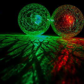 Green and Red by Bev Harrison - Artistic Objects Other Objects ( globes, orbs, round,  )