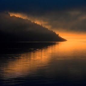 Sunrise, Salish Sea I by Campbell McCubbin - Landscapes Waterscapes ( dawn, islands, ocean, sunrise, salish sea )