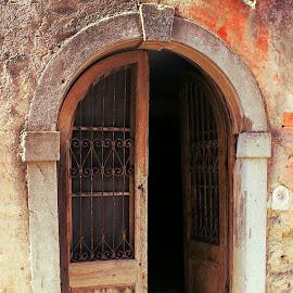 Motovun Door  by Igor Modric - Buildings & Architecture Architectural Detail