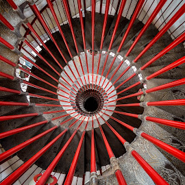 Spiral Staircase at Ljubljana Castle-Slovenia by Daniel Tomanovič - Buildings & Architecture Architectural Detail