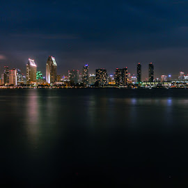 San Diego by Wen Kang Tien - City,  Street & Park  Skylines ( san diego skyline )