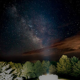 Highground by William Boyea - Landscapes Starscapes ( clouds, night photography, stars, nightscapes, milky way )