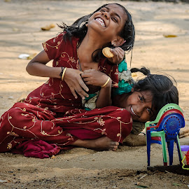 Joy by Gunbir Singh - Babies & Children Children Candids ( playing, girl, toy, street, gunbir, young )