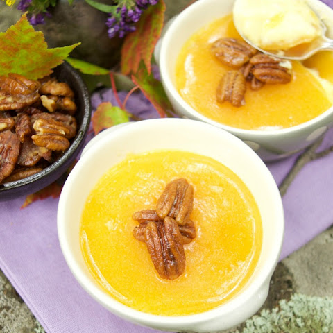Maple Creme Brûlée With Candied Pecans