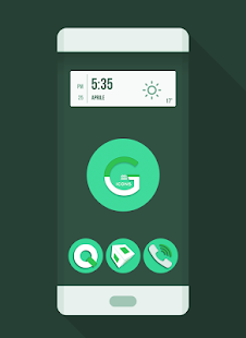 OJ Green - Round Icon pack- screenshot thumbnail