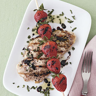 Grilled Chicken and Strawberries with Balsamic Syrup