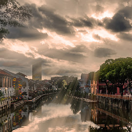 Malacca by Sam Song - City,  Street & Park  Neighborhoods ( jonker, melaka, malaysia, sunrise )