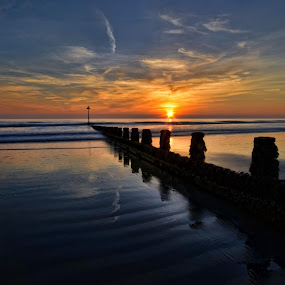 by Becky Wheller - Landscapes Sunsets & Sunrises ( waterscape, sunset, sea, seascape, beach )