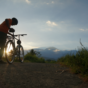 let's go by Tonny Haryanto - People Street & Candids ( mountain, nature, afternoon, green, cycling, track, road )