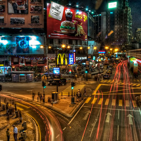 Night - Metropolis by Zulkifli Yusof - City,  Street & Park  Street Scenes ( metropolis, night, malaysia, kuala lumpur, bukit bintang )