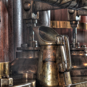 by Steven Stamford - Artistic Objects Industrial Objects ( steam engine, heritage steam, oiler, location, valve chest, claymills, scrart, oil can, oiling, heritage, oil, steam,  )