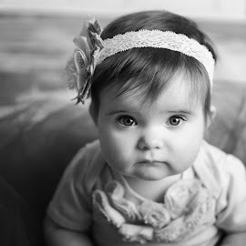 Eyes by Laureen Carruthers - Babies & Children Babies ( child, b&w, girl, baby )