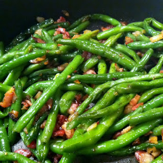 Bacon and Onion Green Beans