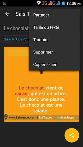 android Sais-Tu-Que ? 2016 Screenshot 3