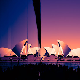 Sydney Walsh Bay Promenade by Branko Askovic - City,  Street & Park  Street Scenes ( bay, walsh, opera, house, sydney )