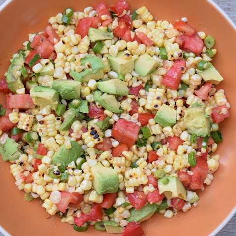 Charred Corn Salad with Tomatoes and Avocados