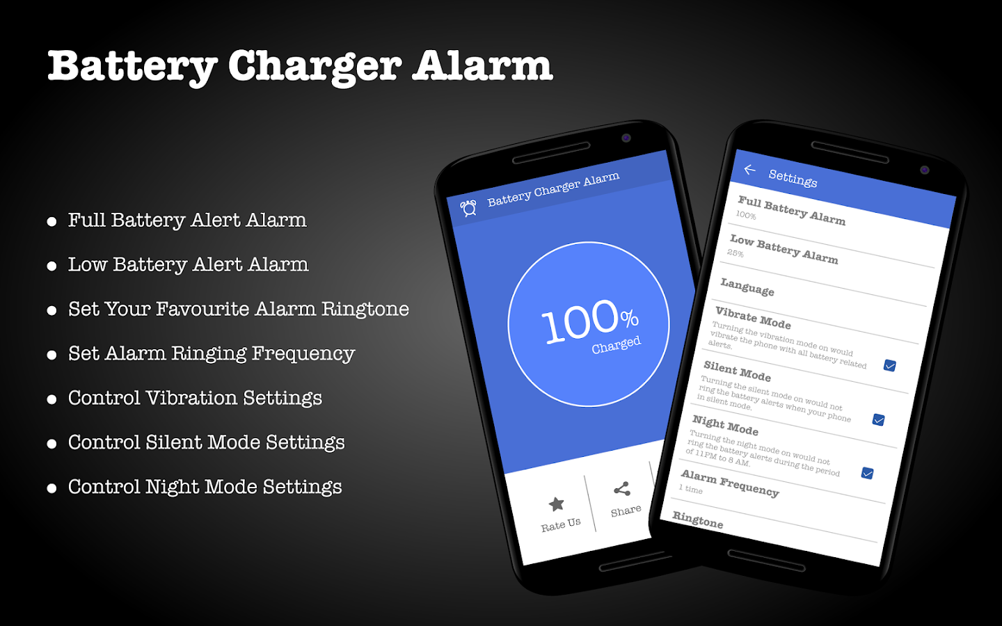Battery Charger Alarm Screenshot 4