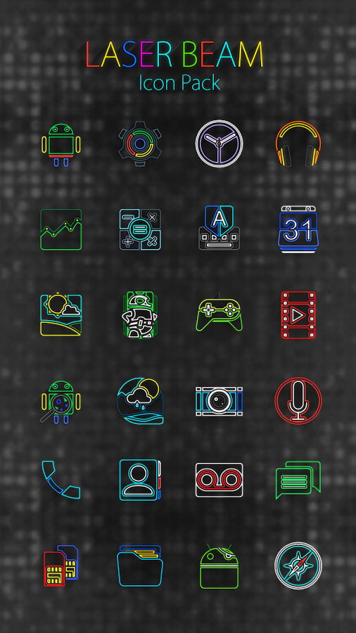 Laser Beam Icon Pack Screenshot 15