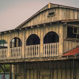 Cedar Key by Don Kuhnle - Buildings & Architecture Architectural Detail ( cedar key, rainy day, florida, buildings, seaside )