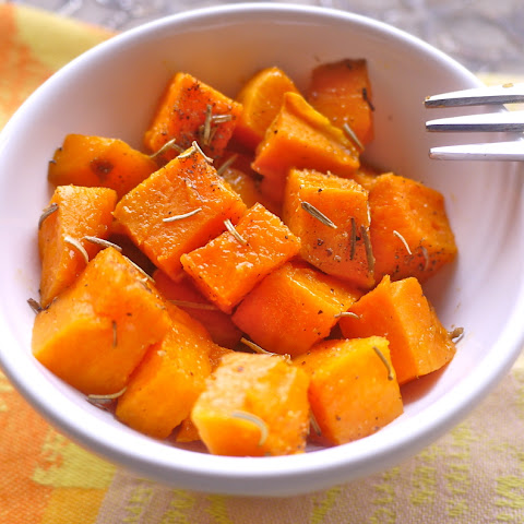 Simple Candied Rosemary Sweet Potatoes (paleo, GF)