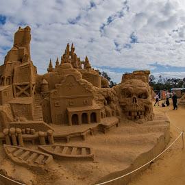 Sand Castle by Calum Russell - Landscapes Beaches ( sand, australia, cloud, castle, beack )