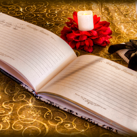 Our Guest Book by Ted Anderson - Wedding Details ( wedding, table setting, book, guest book, wedding details )