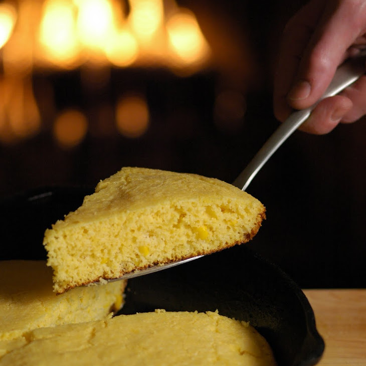 Skillet Corn Bread with Honey Butter Recipe | Yummly