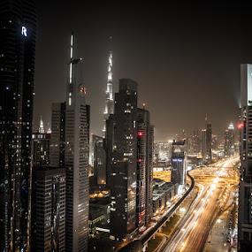 Dubai by night by Habashy Photography - Landscapes Travel ( dubai, night, lights )