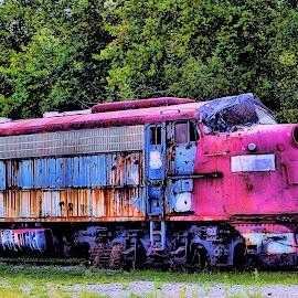 Retired by Karen Hardman - Transportation Trains