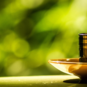 A morning tea... by Prasant Kumar - Food & Drink Alcohol & Drinks ( tamron 70-300, nature, green, blur, tea cup, nikon )