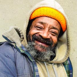 On the Street by Richard Michael Lingo - People Portraits of Men ( homeless, street, male, men, portraits,  )