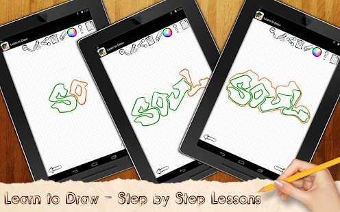Learn to draw Graffiti Art - screenshot