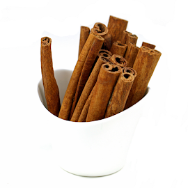 Cinnamon Sticks by Dipali S - Food & Drink Ingredients ( isolated, condiment, dry, stick, cinnamon, aromatic, decoration, spice, coffee, bucket, flavor, culinary, beauty, ingredients, wooden, season, food, background, sticks, healthy, brown, cooking, ingredient, bunch, closeup )