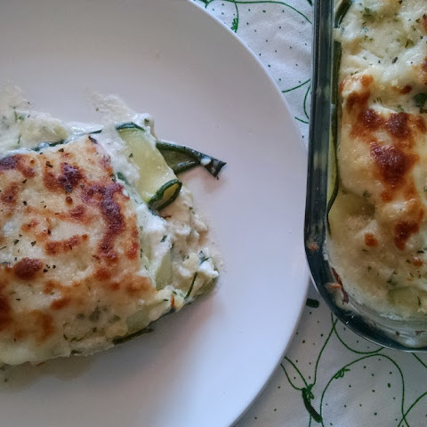 Zucchini and Chicken White Lasagna