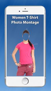 Women T shirt Photo Montage - screenshot