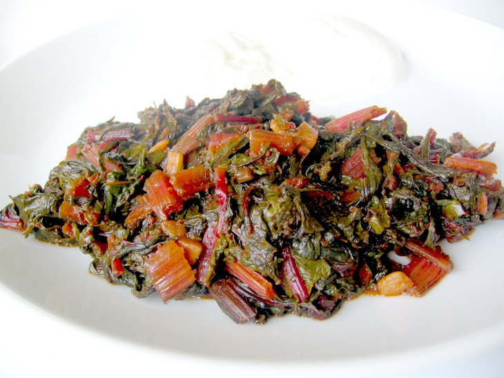 RED SWISS CHARD WITH OLIVE OIL Recipe | Yummly