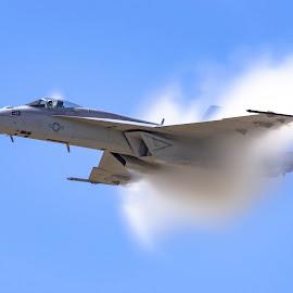 Cloud Maker by Clinton White - Transportation Airplanes ( vapor, cloud, navy, rhino, f18 )