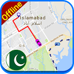 PK Offline Navigation Map: Driving Route Icon