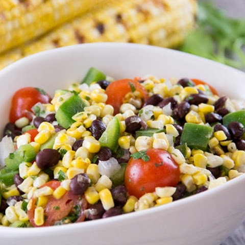 Grilled Corn and Black Bean Salad with Cilantro Lime Dressing