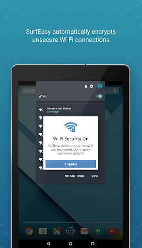 SurfEasy Secure Android VPN - screenshot