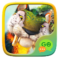 (FREE) GO SMS PRIMEVAL FOREST THEME APK for Bluestacks