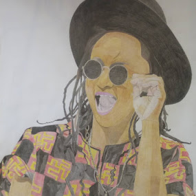 Portrait by Reagan Muriuki - Drawing All Drawing