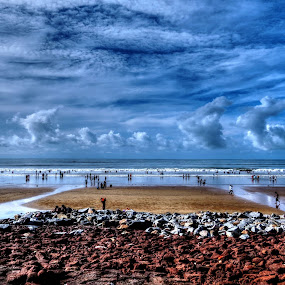 blue sea by Jayanti Chowdhury - Landscapes Beaches ( canon, sky, hdr, blue, sea, beach, travel )