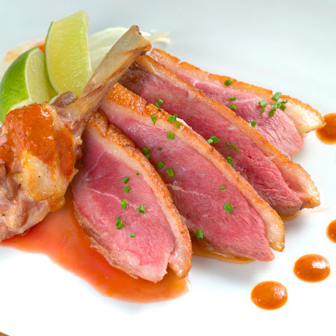 Seared Duck Breast with Cherry Chutney