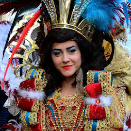 Carnival Girl by Francis Xavier Camilleri - People Musicians & Entertainers