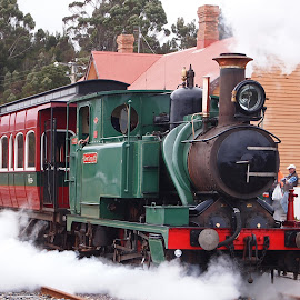 Mount Lyell No1 by Alan Sims - Transportation Trains