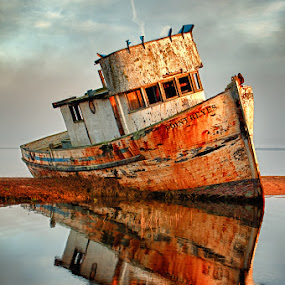 The Old Point Reyes by John Klingel - Transportation Boats ( hdr )